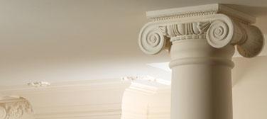 Пилястры, стволы, основания и капители колонн и полуколонн